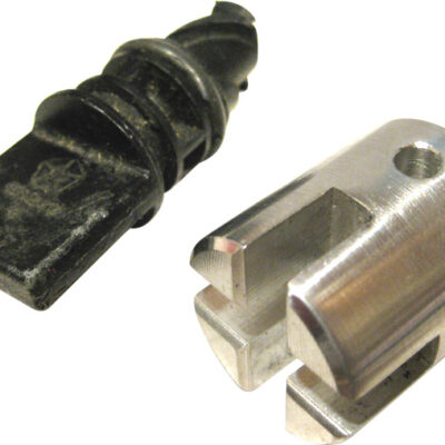 Machined metal radiator socket tool for easy removal/unscrewing of plastic radiator plug in automobiles.