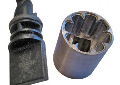 Machined aluminum radiator socket tool